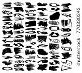 collection of ink strokes brush ... | Shutterstock .eps vector #770330242