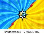 comic book versus horizontal... | Shutterstock .eps vector #770330482