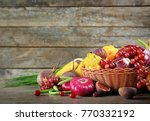many different fruits and... | Shutterstock . vector #770332192