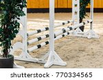 show jumping barriers on the... | Shutterstock . vector #770334565