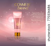 vector 3d cosmetic illustration ... | Shutterstock .eps vector #770336686