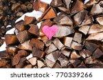 pink decorative heart on...   Shutterstock . vector #770339266