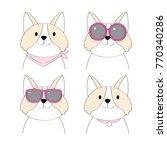 cartoon fashions shiba inu dog...   Shutterstock .eps vector #770340286