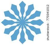 snowflake. blue snowflake on... | Shutterstock .eps vector #770341012