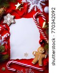 christmas greeting card ... | Shutterstock . vector #770342092