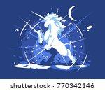 brightly shining unicorn... | Shutterstock .eps vector #770342146