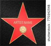 walk of fame star. reward in... | Shutterstock .eps vector #770342548