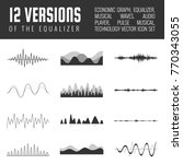 vector sound waves set. audio... | Shutterstock .eps vector #770343055