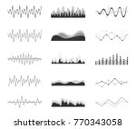 vector sound waves set. audio... | Shutterstock .eps vector #770343058