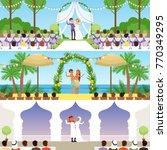 different wedding ceremonies... | Shutterstock .eps vector #770349295