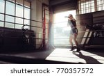 female boxer doing shadow... | Shutterstock . vector #770357572