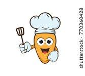 carrot chef cartoon illustration | Shutterstock .eps vector #770360428
