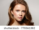 beautiful young woman with... | Shutterstock . vector #770361382