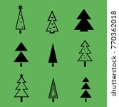 christmas tree with decorations ... | Shutterstock .eps vector #770362018