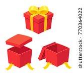 christmas present boxes set ... | Shutterstock .eps vector #770364022