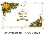 christmas background with... | Shutterstock .eps vector #770364526