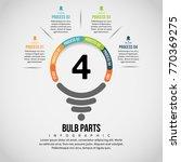 vector illustration of bulb... | Shutterstock .eps vector #770369275