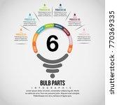 vector illustration of bulb... | Shutterstock .eps vector #770369335