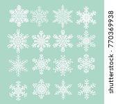 group of new design of snow... | Shutterstock .eps vector #770369938