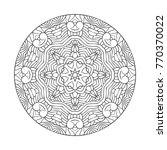 vector beautiful hand drawn... | Shutterstock .eps vector #770370022
