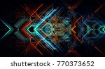 abstract technological... | Shutterstock . vector #770373652