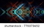 abstract technological... | Shutterstock . vector #770373652
