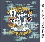 air patrol flying kids crew ... | Shutterstock .eps vector #770374315