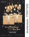 merry christmas   happy new... | Shutterstock .eps vector #770377192