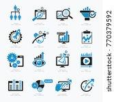 data analysis  business... | Shutterstock .eps vector #770379592