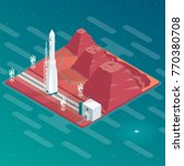 isometric spaceport on... | Shutterstock .eps vector #770380708