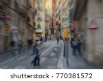 blurred image of a busy... | Shutterstock . vector #770381572