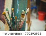 painting studio tools. set of... | Shutterstock . vector #770393938
