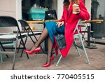 young stylish beautiful woman... | Shutterstock . vector #770405515