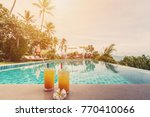 fresh juices on private... | Shutterstock . vector #770410066