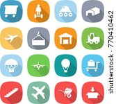 flat vector icon set   delivery ...   Shutterstock .eps vector #770410462