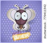 cartoon bee character cut out... | Shutterstock .eps vector #770411542