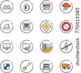 line vector icon set   taxi... | Shutterstock .eps vector #770415385