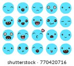 hand drawn vector emoticons... | Shutterstock .eps vector #770420716