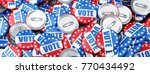 vote election on a white... | Shutterstock . vector #770434492