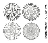 tree rings. mandala. objects... | Shutterstock .eps vector #770434495
