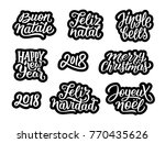 merry christmas  feliz navidad  ... | Shutterstock .eps vector #770435626