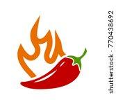pepper hot icon | Shutterstock .eps vector #770438692