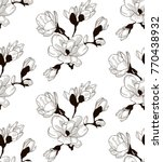 vector black decorative... | Shutterstock .eps vector #770438932