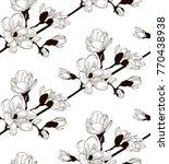 vector black decorative... | Shutterstock .eps vector #770438938