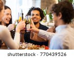 leisure  party and people... | Shutterstock . vector #770439526