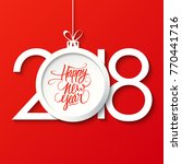 2018 happy new year celebrate... | Shutterstock .eps vector #770441716