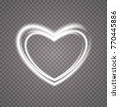 glowing heart. transparent... | Shutterstock .eps vector #770445886