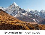 ama dablam  everest region ... | Shutterstock . vector #770446708