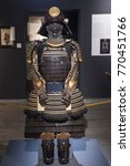 Small photo of Turin, Italy-December 7, 2017: Exhibition on Ninja and Samurai costumes at the MAO in Turin