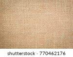 burlap texture background | Shutterstock . vector #770462176